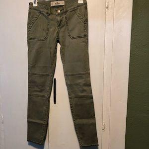 Hollister olive green jeans